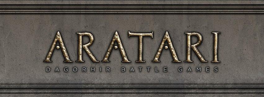 Aratari written in rune style text